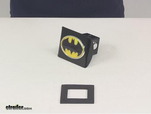 "Superman Black Auto Grade ABS Plastic Hitch Cover DC Comics Licensed 3-D /""S/"""