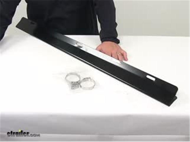 Wind Deflector,Ladder Rack,Black Buyers Products 1501193 Ladder Rack Wind Deflector