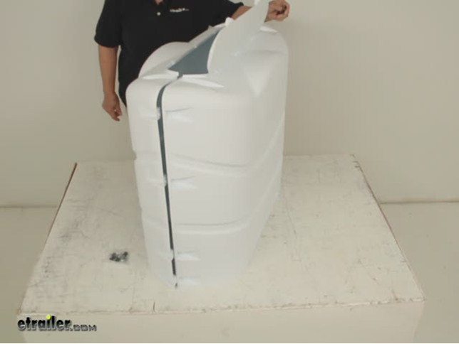Camco Rv Polyethylene Propane Tank Cover For 2 20 Lb Or 30 Lb Steel Tanks Polar White Camco Rv Covers Cam40542