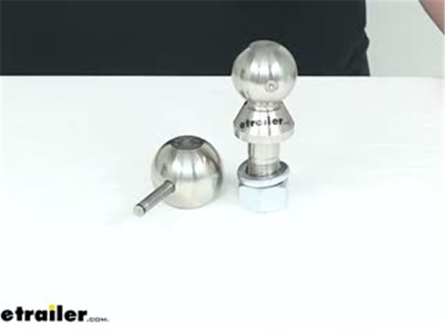 """Convert-A-Ball 2-5//16/"""" Nickel-Plated Trailer Hitch Ball Only For Convertible Sys"""