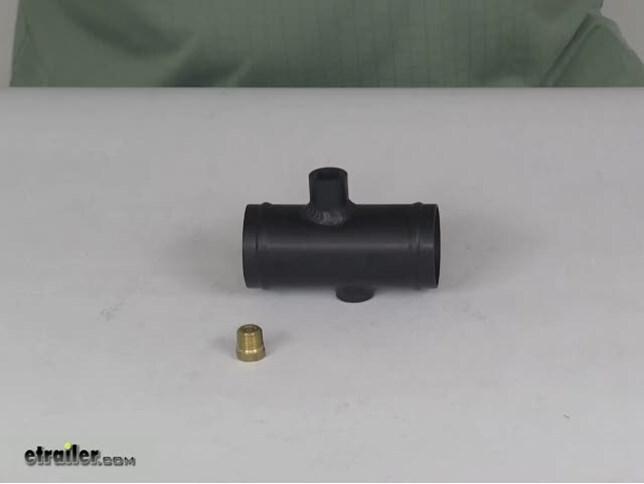"Flex-A-Lite 32084 Water Temperature Inline Hose Adapter Two 1//4/""NPT Fems 1-3//4/"""