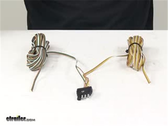 25 Ft 4-way Trailer Wiring Harness - Wishbone Style