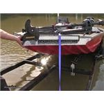 CE Smith Boat Trailer Roller Bunks Water Test