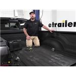 B and W Underbed Gooseneck Trailer Hitch Ball and Safety Chain Kit Install - 2021 Ram 3500