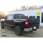 B and W Gooseneck Trailer Hitch Offset Ball Installation - 2014 Toyota Tundra