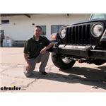 Blue Ox Base Plate Kit Installation - 2003 Jeep Wrangler
