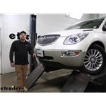Blue Ox Base Plate Kit Installation - 2014 Buick Enclave