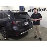 Curt T-Connector Vehicle Wiring Harness Installation - 2020 Subaru Outback Wagon