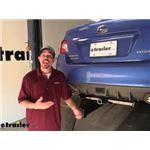 Curt Trailer Hitch Installation - 2020 Subaru WRX