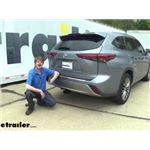 Draw-Tite Max-Frame Trailer Hitch Intstallation - 2020 Toyota Highlander
