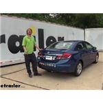 Draw-Tite Sportframe Trailer Hitch Installation - 2015 Honda Civic
