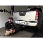Draw-Tite Max-Frame Trailer Hitch Installation - 2013 Nissan Frontier