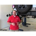 Draw-Tite Max-Frame Trailer Hitch Installation - 2018 Jeep JL Wrangler