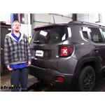 Draw-Tite Max-Frame Trailer Hitch Installation - 2019 Jeep Renegade