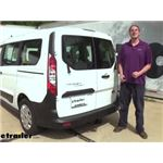 Draw-Tite Max-Frame Trailer Hitch Installation - 2019 Ford Transit Connect