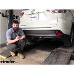 Draw-Tite Max-Frame Trailer Hitch Intstallation - 2016 Toyota Highlander