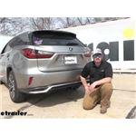 Draw-Tite Max-Frame Trailer Hitch Intstallation - 2018 Lexus RX 350 L
