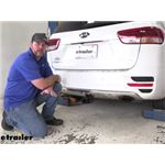 EcoHitch Hidden Trailer Hitch Installation - 2016 Kia Sorento