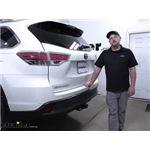 etrailer Trailer Hitch Installation - 2015 Toyota Highlander