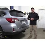 etrailer Trailer Hitch Installation - 2017 Subaru Outback Wagon
