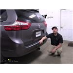 etrailer Trailer Hitch Installation - 2015 Toyota Sienna