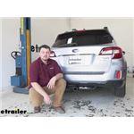 etrailer Trailer Hitch Installation - 2016 Subaru Outback Wagon