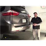 etrailer Trailer Hitch Installation - 2017 Toyota Sienna