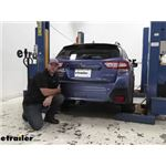 etrailer.com Trailer Hitch Installation - 2019 Subaru Crosstrek