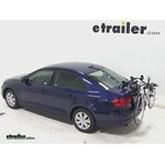 Hollywood Racks Expedition Trunk Bike Rack Review - 2014 Volkswagen Jetta