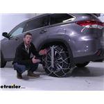 Konig Self-Tension Low-Pro Snow Chains Installation - 2019 Toyota Highlander