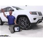 Thule XG12 Pro Tire Chains Installation - 2015 Jeep Grand Cherokee