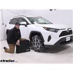 Konig Self-Tensioning Low-Pro Snow Tire Chains Installation - 2019 Toyota RAV4