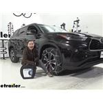 Konig Self-Tensioning Snow Tire Chains Installation - 2021 Toyota Highlander