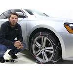 Konig Standard Snow Tire Chains Installation - 2014 Volkswagen Passat