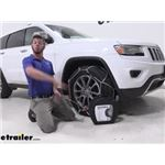 Konig Standard Snow Tire Chains Installation - 2015 Jeep Grand Cherokee