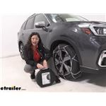 Konig Standard Snow Tire Chains Installation - 2020 Subaru Forester