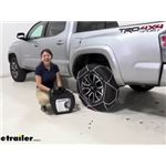 Konig Standard Snow Tire Chains Installation - 2020 Toyota Tacoma
