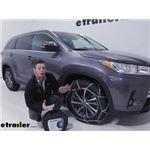 Konig Self-Tensioning Snow Tire Chains Installation - 2019 Toyota Highlander