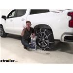 Pewag All Square Snow Tire Chains Installation - 2020 Chevrolet Silverado 1500