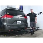 Reese 24x60 Hitch Cargo Carrier Review - 2011 Toyota Sienna