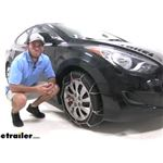Konig Self-Tensioning Snow Tire Chains Installation - 2013 Hyundai Elantra