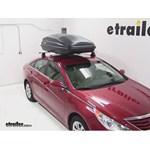 SportRack Vista Roof Cargo Box Review - 2013 Hyundai Sonata