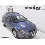 Swagman Upright Roof Mounted Bike Rack Review - 2006 Subaru Outback Wagon