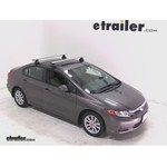 Thule AeroBlade Traverse Roof Rack Installation - 2012 Honda Civic