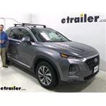 Thule WingBar Evo Crossbars Installation - 2020 Hyundai Santa Fe