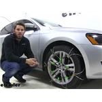 Titan Chain Diagonal Alloy Cable Snow Tire Chains Installation - 2014 Volkswagen Passat