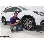 Titan Chain Alloy Snow Tire Chains Installation - 2020 Subaru Ascent
