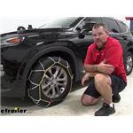 Titan Chain Diamond Alloy Snow Tire Chains Installation - 2019 Hyundai Santa Fe
