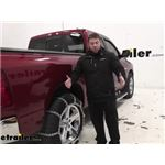 Titan Chain Wide Base and Dual Tires Snow Tire Chains Installation - 2012 Ram 1500
