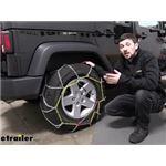 Titan Chain Alloy Snow Tire Chains Installation - 2017 Jeep Wrangler Unlimited
